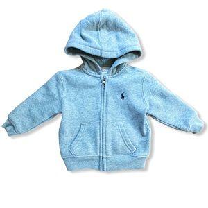 Ralph Lauren | Gray Hooded Sweatshirt (9 mos)